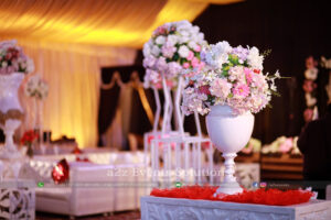 hall decor, imported flowers