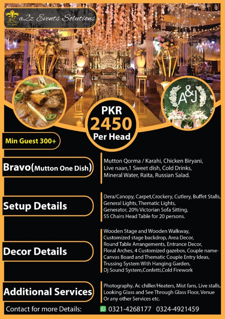 wedding packages, wedding packages with mutton menu, wedding packages with food